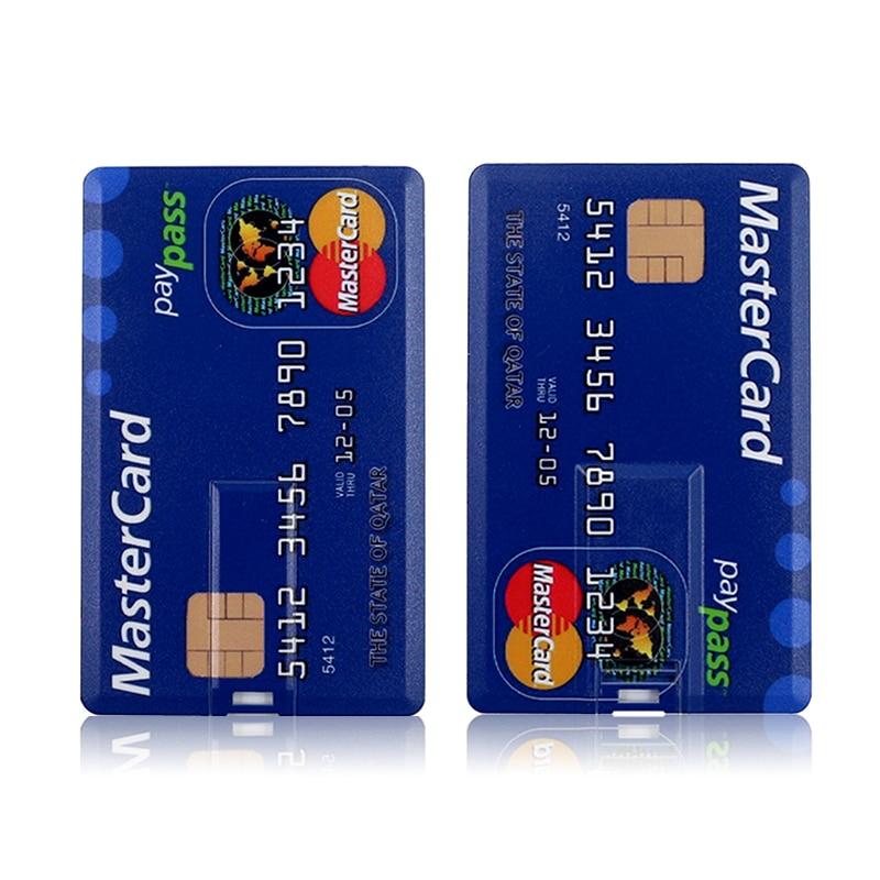 USB Flash Drive High Speed Bank Credit Card Pen Drive 4GB 8GB 16GB Pendrive 32GB 64GB Memory Usb Stick Flash Drive 128GB