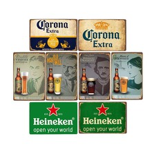 Vintage Tin Plates Sign Club Cave-Decorative Bar Pub Ice-Cold-Drink-Poster Plaque Beer Metal