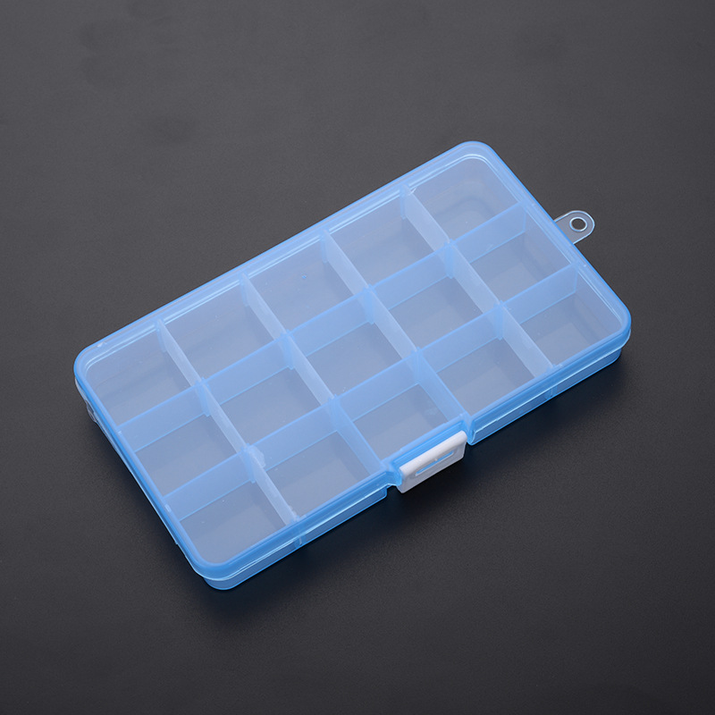 Пластиковый Органайзер, контейнер для хранения, практичный регулируемый отсек, держатель для ювелирных изделий, серег, бусин, винтов, чехол,...