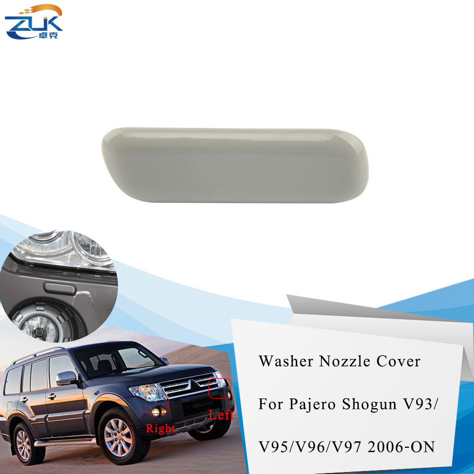 ZUK Front Headlight Washer Nozzle Cover Lid Unpainted Cap Shell For <font><b>Mitsubishi</b></font> For <font><b>Pajero</b></font> V93 V97 2006 2007 2008 2009 2010-2019 image