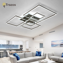 купить Modern led Ceiling lights with remote control acrylic lights For Living Room Bedroom Home Coffee ceiling Fixtures Free Shipping по цене 6350.29 рублей