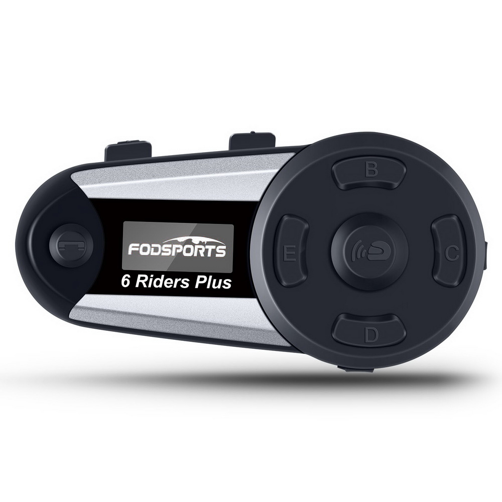 Fodsports V6 Plus intercom moto rcycle helm intercom moto bluetooth helm Headset 6 Fahrer 1200M Intercomunicador FM LED