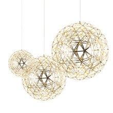 DX – Lampes à suspension LED modernes idéales pour une salle à manger, éclairages pour la maison, luminaires suspendus au design de feu d'artifice