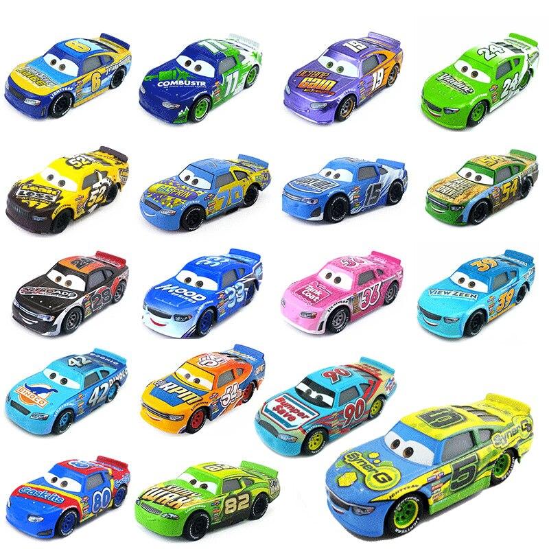 Novo disney pixar carros 3 geração número de liga modelo de carro corrida inercial granel brinquedo do carro para crianças presente natal menino brinquedos
