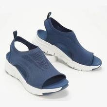 De talla grande zapatos de mujer zapatos de verano 2021 de confort Casual deporte sandalias de playa para mujer Sandalias de cuña mujeres sandalias de plataforma, sandalias