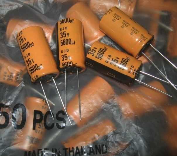 10 шт. Новый ELNA RJD 35V5600UF 18x31,5 мм 5600 мкФ 35 в оранжевый аудио фильтрующий электролитический конденсатор rjd 5600 мкФ/35 в вместо 4700 мкФ