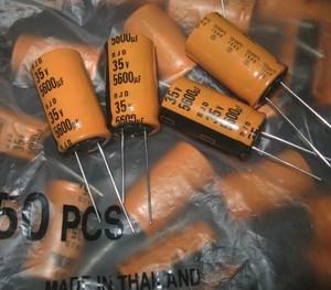 Image 1 - 10 sztuk nowy ELNA RJD 35V5600UF 18X31.5MM 5600uf 35v pomarańczowy audio filtrowanie kondensator elektrolityczny rjd 5600 uF/35 V zamiast 4700UF