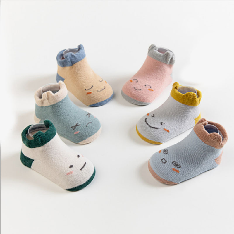 Newborn Baby Winter Anti Slip Socks Toddler Boys Girls Children Kids Cotton Warm Cute Animal Fox Sock Infant Short Cartoon Socks