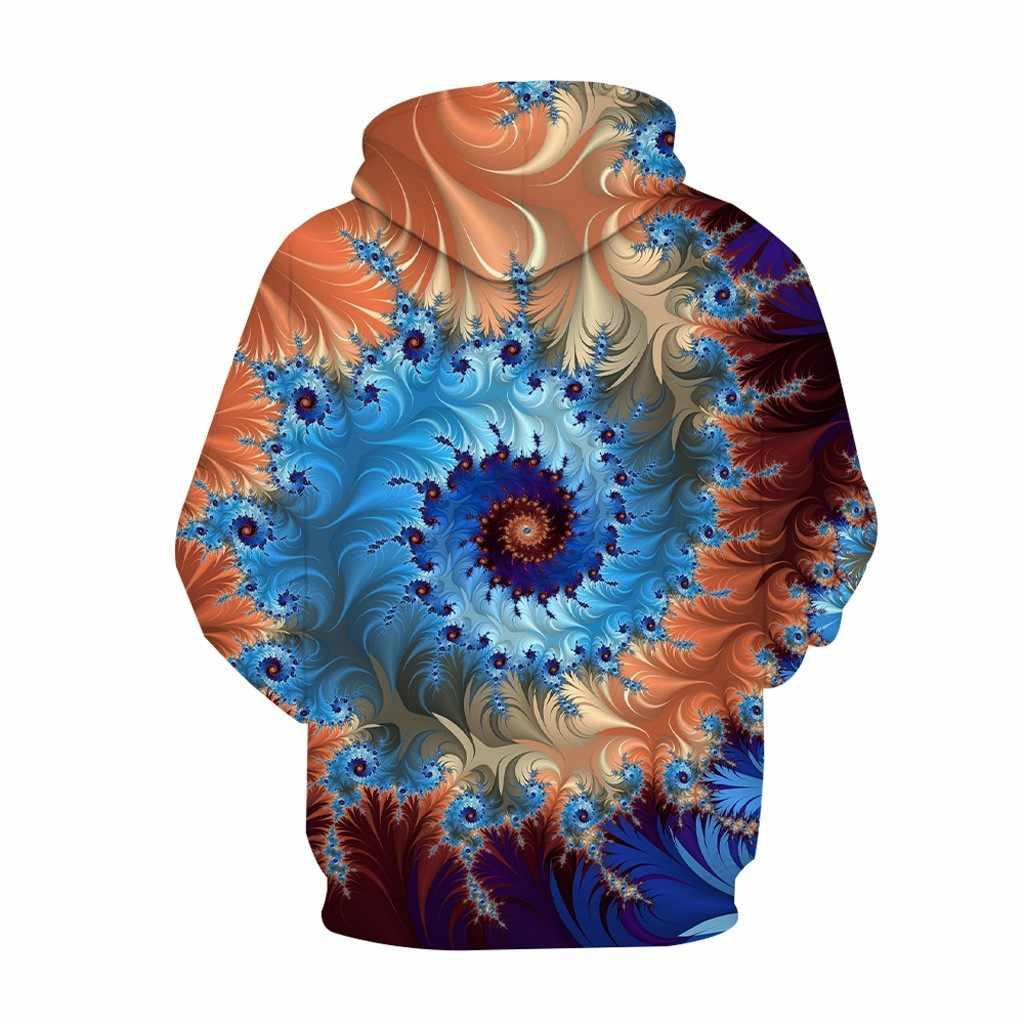 Hoodie Streetwear 2019 Herbst & winter männer Neue 3d print Spirale Stun Lange ärmeln Gedruckt Mit Kapuze Sweatshirt Suéter con Capucha #50