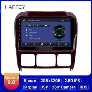 Image 1 - Harfey 9 Android 9.0 Car Radio GPS Navi for Mercedes Benz S Class W220 S280 S320 S350 S400 S430 S500 1998 2005 Audio with AUX