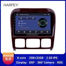 Harfey 9 Android 9.0 araba radyo GPS Navi Mercedes Benz S sınıfı için W220 S280 S320 S350 S400 S430 s500 1998 2005 ses AUX ile