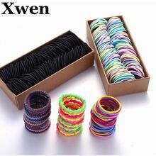 200 шт/компл нейлоновые эластичные резинки для волос карамельных