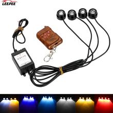 רכב בשעות היום ריצת אור 12V אלחוטי שלט רחוק 4 ב 1 LED רכב נשר העין אור חירום אזהרת Strobe פלאש אור