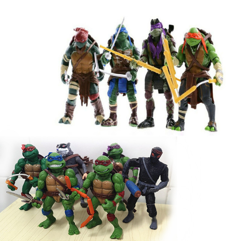 4/6 Pcs/set Model Figures Mini Toys Turtles Cartoon Tartaruga Turtles Toys Furnishing Articles Ninjas Figure Character Figurine