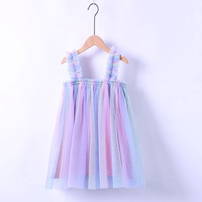 VIDMID Baby Girls summer Dresses Cotton sweet lace Dresses Kids girls vests Clothes children's girls sleeveless clothing 7065 03 6