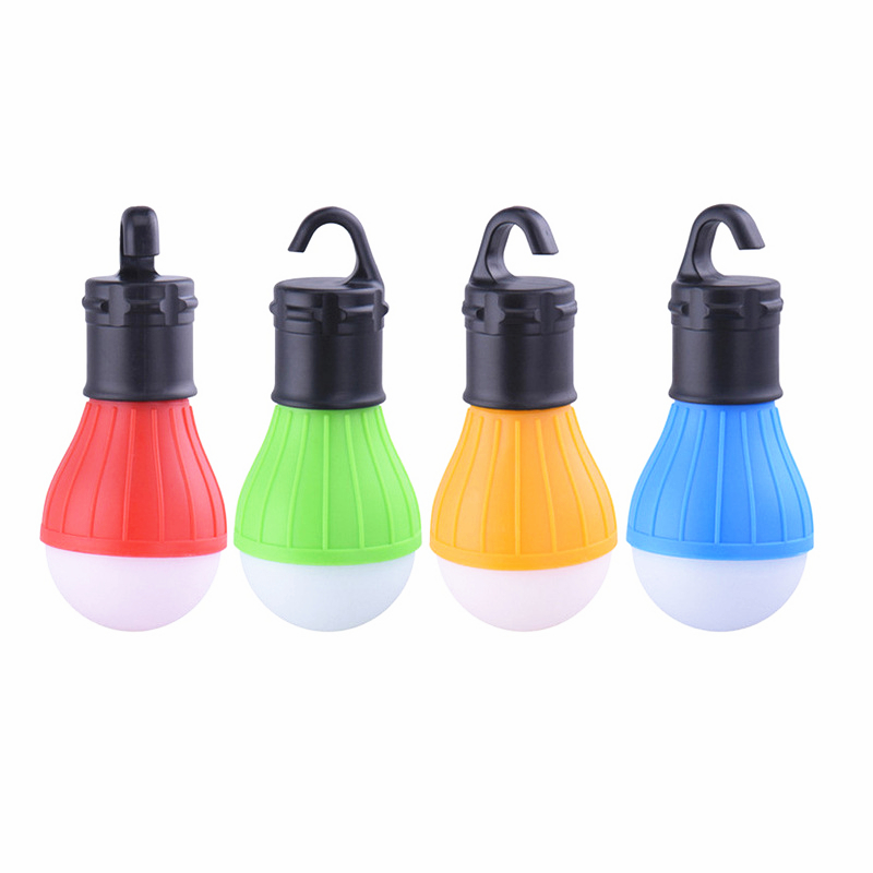 Portable Camping Equipment Outdoor Hanging 3 LED Camping Lantern Soft Light LED Camp Lights Bulb Lamp for Camping Tent Fishing 1