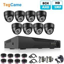 H.265 8CH 5MP HD DVR Kit CCTV System AHD Dome Kamera Indoor P2P Video Sicherheit Überwachung Set Cam Mit 4/8 PCS 20m BNC Kabel