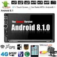 7 ''Android 8.1 Autoradio 2 Din Autoradio GPS Navigation 2Din universel voiture lecteur multimédia BT FM Mirrorlink Audio stéréo 8802