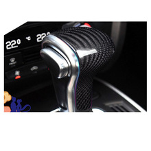 Lsrtw2017 Carbon Fiber Abs Car Gear Lever Cover for Audi A4 A6 Q5 A5 A3 A7 Q7 цены