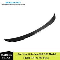 C-0S Style Carbon fiber Trunk Spoiler For BMW New 3 Series G20 G28 325i 320d 330i M340i 2020+