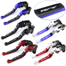 For Yamaha YZF-R1 R1 2009 2010 2011 2012 2013 2014 CNC Brake Clutch Lever Motorcycle Foldable Extendable Adjustable R1 2009-2014 for yamaha xj6 diversion xj6diversion xj 2009 2014 free shipping motorcycle adjustable folding extendable brake clutch lever