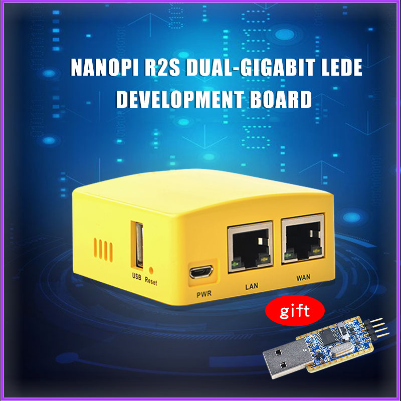 Friendlyarm NanoPi R2S NEW Demo Board Dual Gbps Ethernet Rockchip RK3328 Smart Home Gateways Support OpenWrt System
