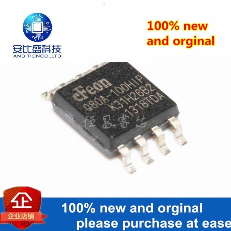 10pcs 100% New And Orginal EN25Q80A-100HIP Silk-screen Q80A-100HIP EN25Q80A SOP8 In Stock