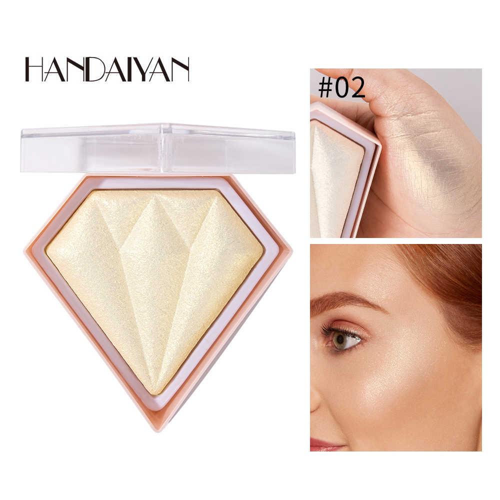 HANDIAYAN Gesicht Glitter Erröten Rosa Nude Shimmer Highlighter Rouge Pulver Make-Up Kosmetik Gesichts Kontur Corrector Glanz Rouge