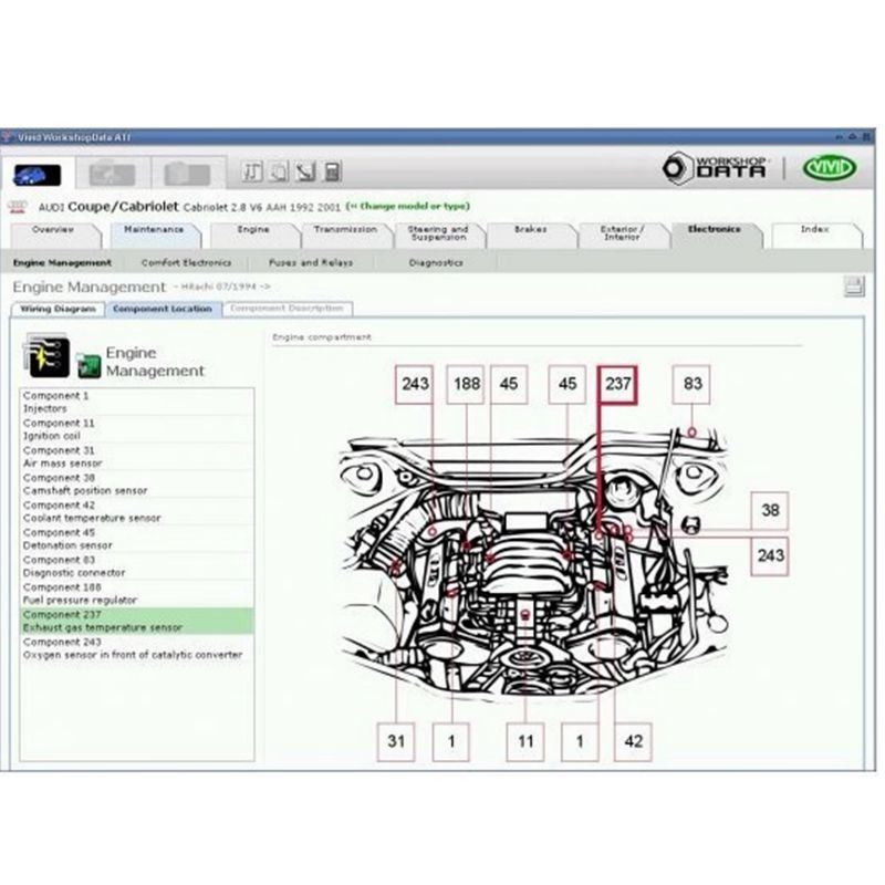 Auto Repair Software Latest Version Vivid Workshop Data V10.2 Collection Until 2010 Year Auto Repair Software Free Shipping