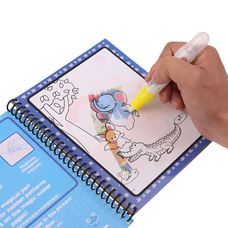 Reusable Kids Painting Magic Water Forest Drawing Book Cloth Book Baby Painting Gifts Toy Graffiti Book Early Education Book Toy