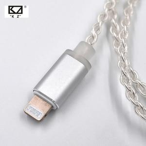 Image 2 - AK KZ Verlichting Dock Kabel 2Pin/MMCX Connector Plated Zilveren Kabel Voor KZ ZS5/ZS6/AS16/ ED16/ZST/ES4/AS12/ZS10/AS10/ZSN Pro/ZSX