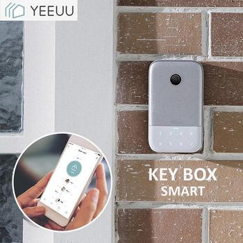 Smart Key Box Bluetooth Phone APP / Fingeprint / Password Aluminum Alloy Key Storage Lock Box Weatherproof IP44