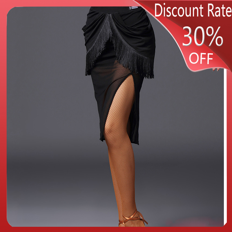 Women Latin Dance Skirt Sexy Black Latin Performance Skirt Latin/Cha Cha/Rumba/Samba Latin Dance Competition Dresses DQS3479