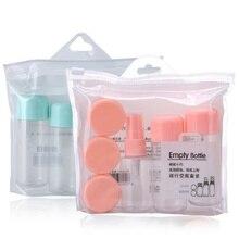 8 unids/set de botellas de plástico transparentes rellenables, Mini loción de maquillaje, botella de Perfume en Spray, contenedor de crema, accesorios de viaje vacíos