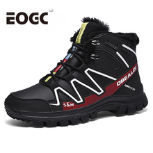 Outdoor Men Boots Waterproof Winter Snow boots Plush Warm ankle High Quality work safety men winter shoes