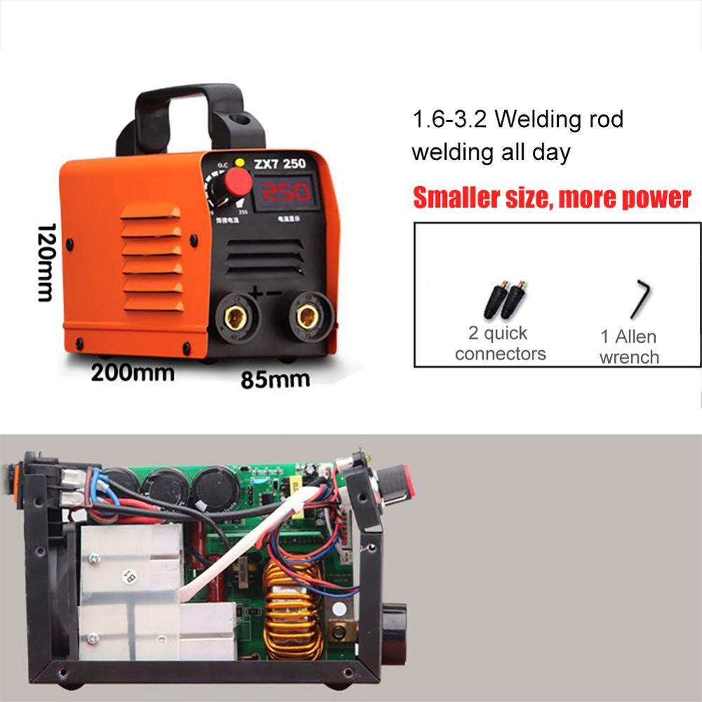 MIG TIG Welder Inverter Welding Machines Zx7-250 220V 250A Portable Digital Display IGBT High Frequency Inverter Welding Machine