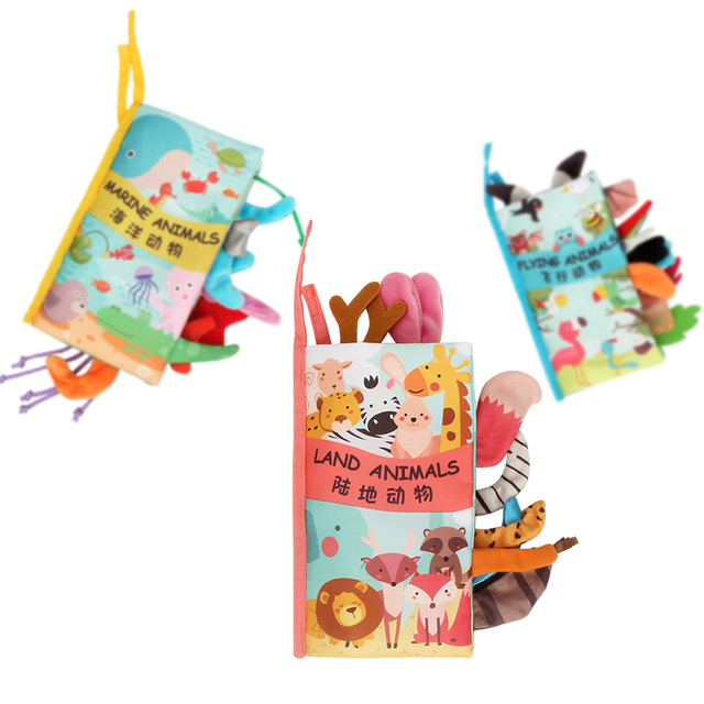 Baby Book Soft Cloth Books for Newborns 0 12 months Baby Toys Educational Soft Book Baby Soft Toys Montessori Toys for Children 1