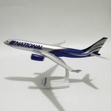 JASON TUTU 30cm American National Airlines Airbus a330 Model samolotu samolot 1:200 skala Diecast plastikowe samoloty krajowe samoloty