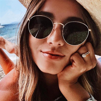 Luxury Brand Round Polarized Sunglasses Women 2021 trend Vintage Driving Sunglass Female Small Oval Sun Glasses Shades For