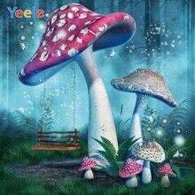 Fairy Tale Dreamy Wonderland Mushroom Forest Backdrop Newborn Baby Shower Kids Birthday Photography Background For Photo Studio