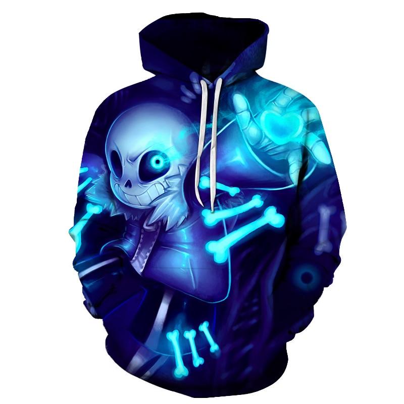 New Undertale Hoodies 2019 New Design Sans Pattern 3D Printing Fashion Men Women Hoodies Sweatshirts Tops