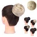 Женский пончик-шиньон Girlshow, прямая эластичная синтетическая резинка для волос, парик-булочка, шиньон, конский хвост