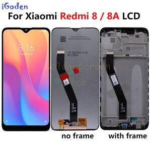 Image 1 - Original para xiaomi redmi 8a display lcd com moldura da tela de toque painel digitador assembléia para xiaomi redmi 8a 8 lcd