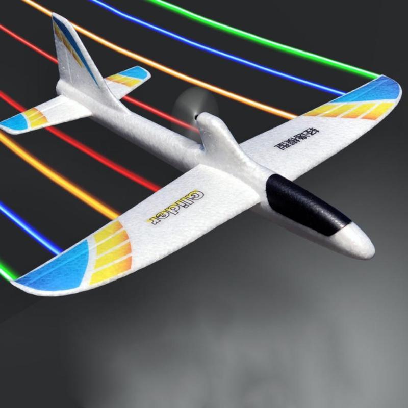 Avion en mousse volante, jouets en mousse, jeu à Led, pour enfants, 36cm 1