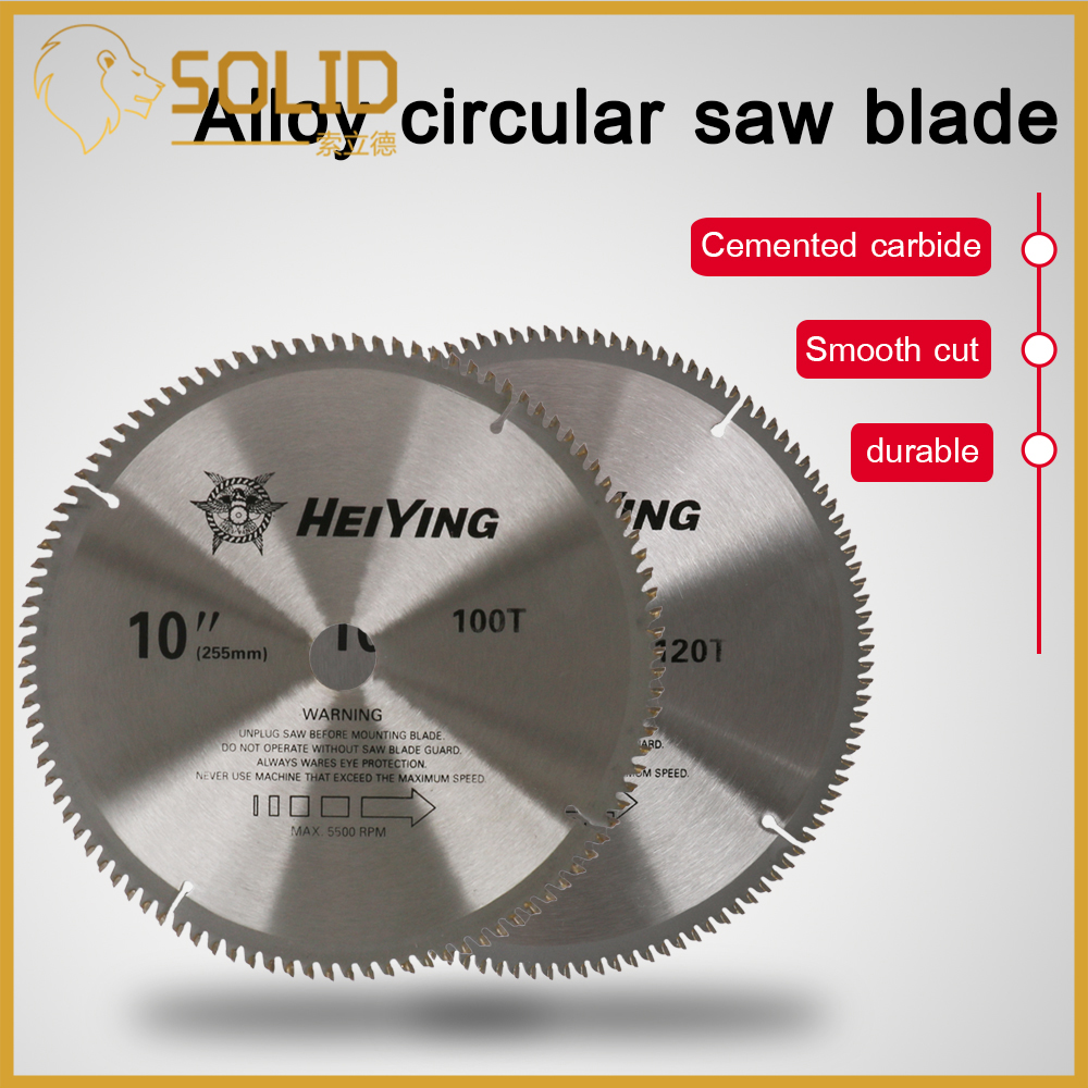Carbide Circular Saw Blade 250mm 100/120T Woodworking Cutting Disc For Wood Cutter Power Tool Bore 25.4mm 1Pc