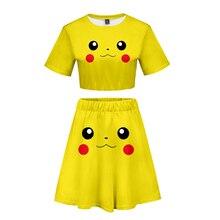 Pokemon Detective Pikachu Short skirt suit Hot Short Sleeve T-shirt and Short