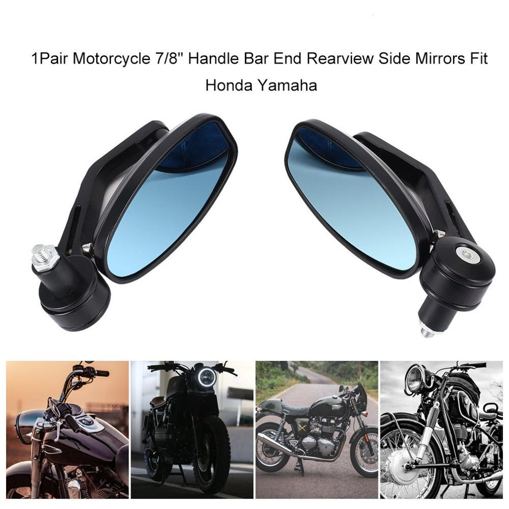 """New 7//8/"""" Handle Bar End Rearview Side Mirrors For Ducati Honda Yamaha KTM"""