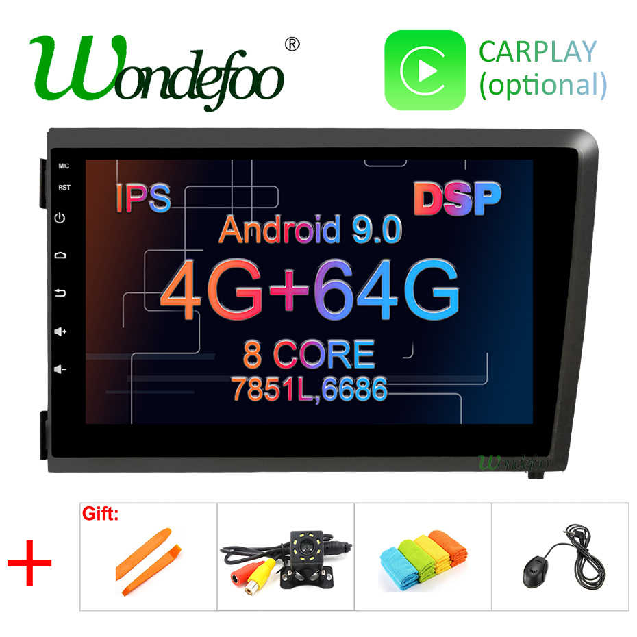 "8 ""DSP IPS Android 9.0 4G 64G GPS สำหรับ Volvo S60 V70 XC70 2000 2001 2002 2003 2004 วิทยุนำทาง DVD PLAYER"