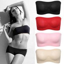 Goocheer 5 colors Womens Tube Top Strapless Bandeau Bra Underwear Women Bralette Seamless Tops