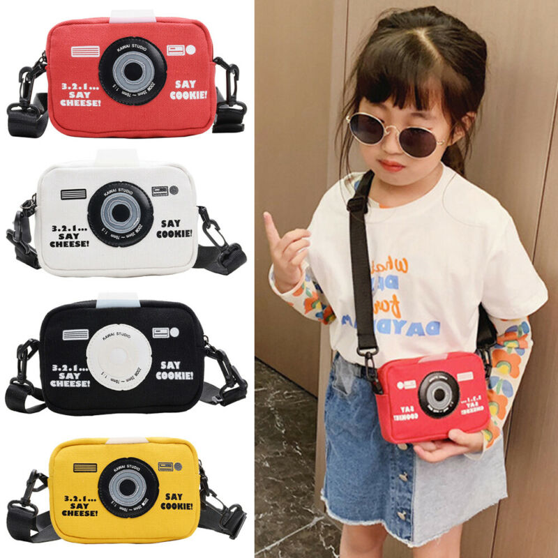 Kids Messenger Bags Canvas Camera Bag Coin Purse Fashion Girls Boys Small Mini Children Waist Packs
